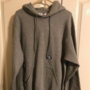 Russell Hoodie Pullover Gray Sweatshirt Mens M NWT